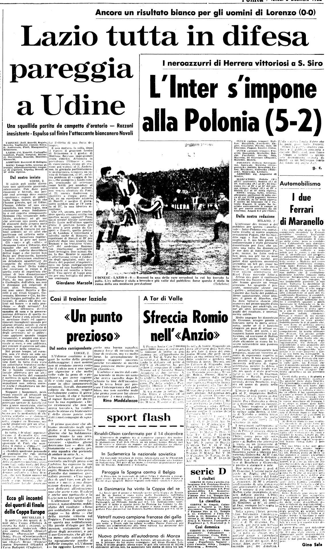 Domenica 2 dicembre 1962 udine stadio birra moretti for Moretti foggia pittore