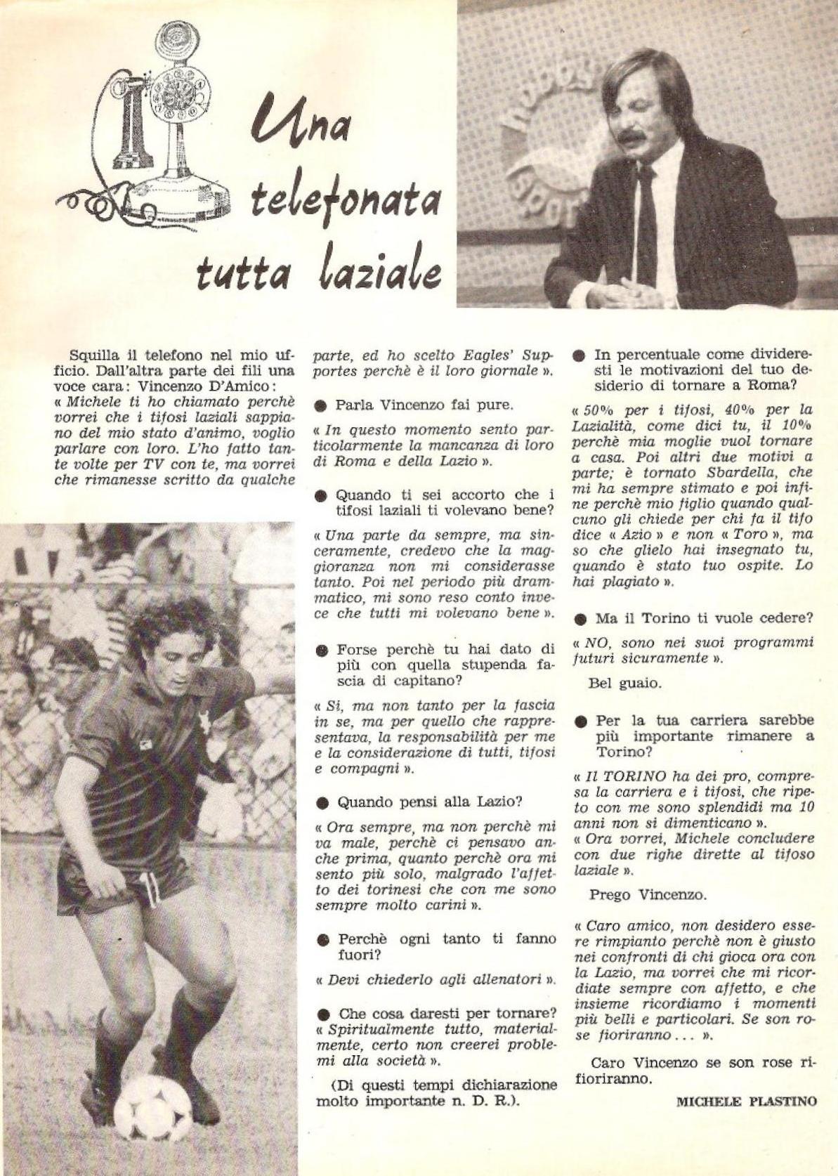 Eagles Supporters del 22 marzo 1981