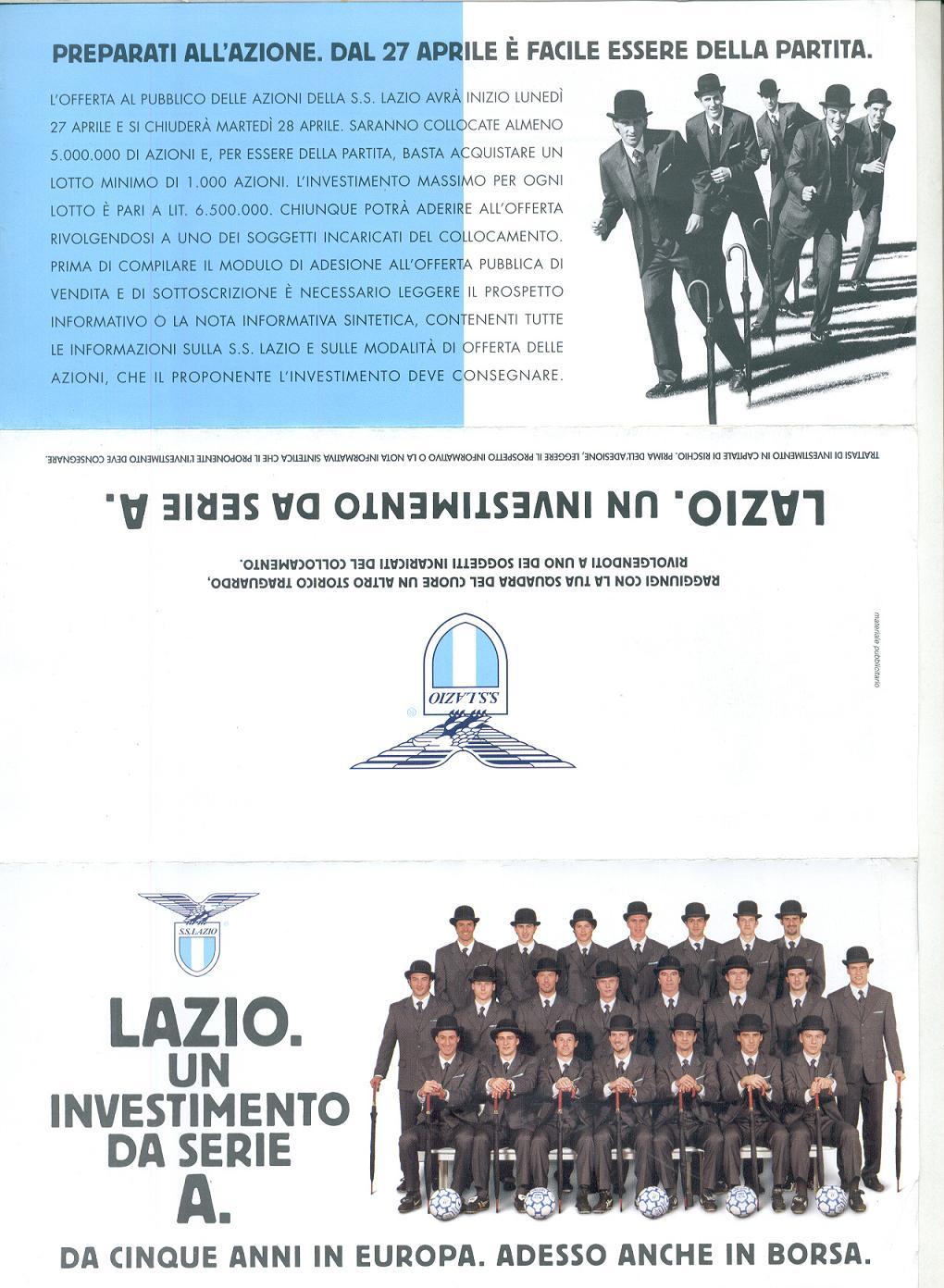professionale più votato le più votate più recenti ultima selezione del 2019 La Lazio è quotata in borsa - LazioWiki